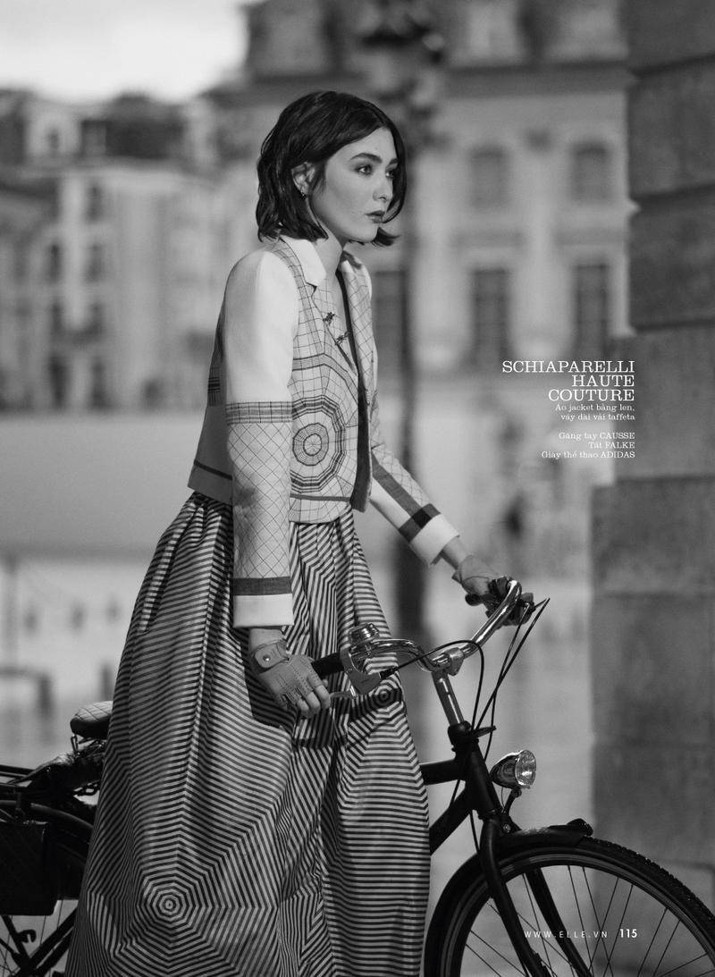 Mar Gonzalez by Benjamin Kanarek for Elle Vietnam April 2016 - Schiaparelli