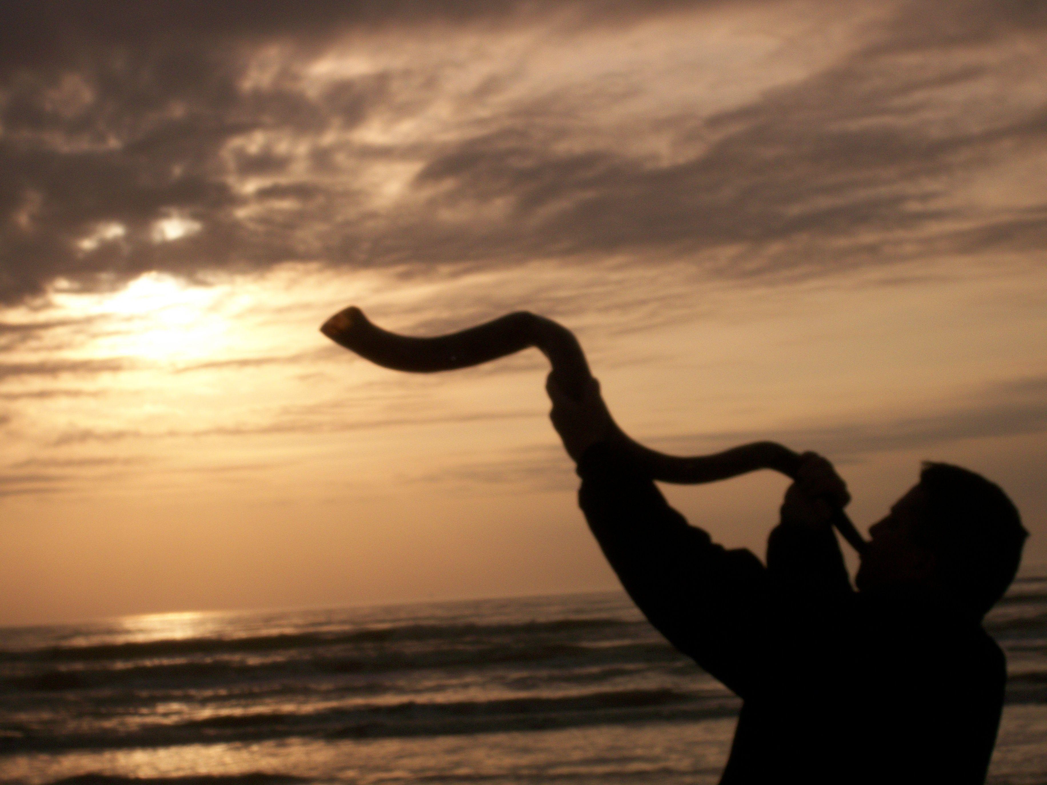 Blowing The Shofar At Sunrise Sun Pinterest Israel