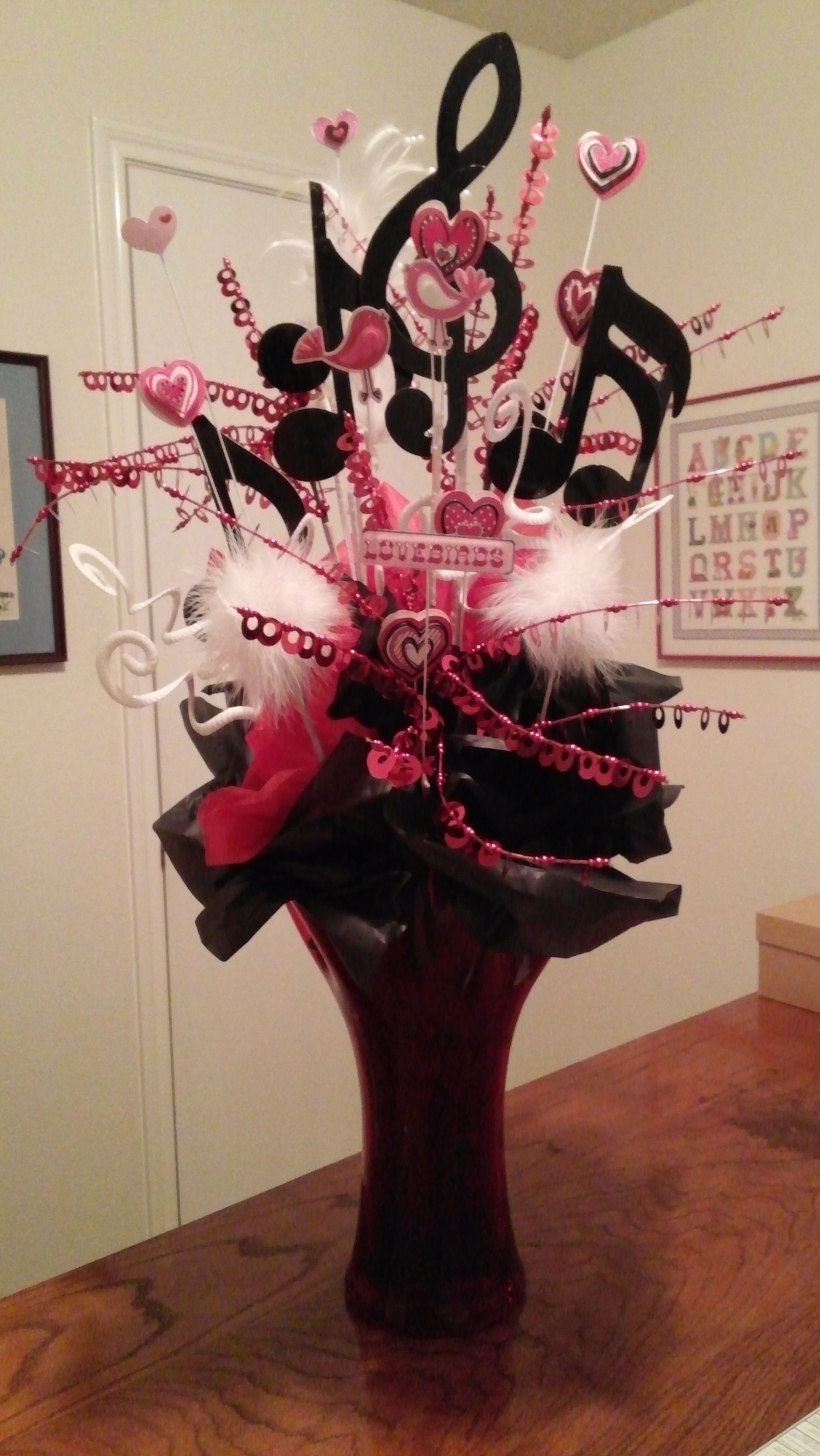 Centerpiece I made for music themed reception..... Music