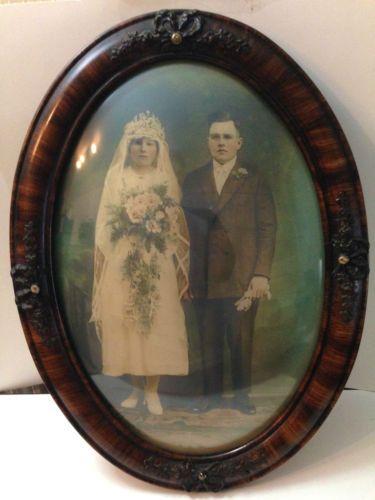 Vintage Ornate Oval Wood /& Gesso Picture Frame