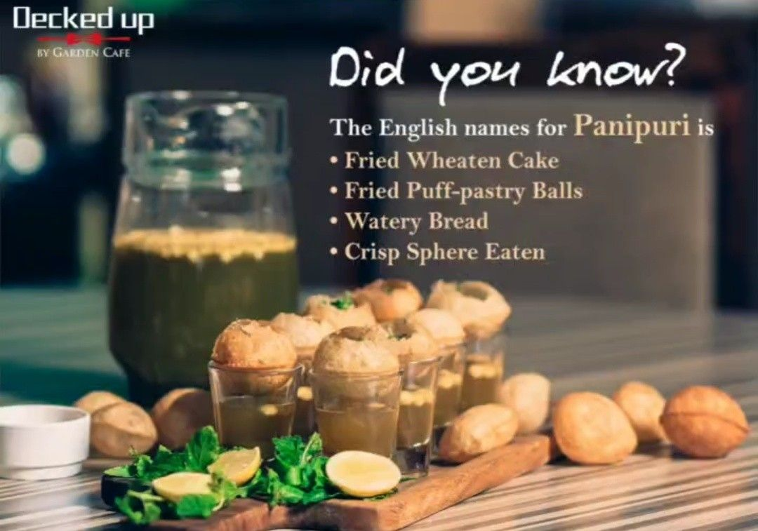 Did You Know What Do They Call Your Favourite Pani Puri In English