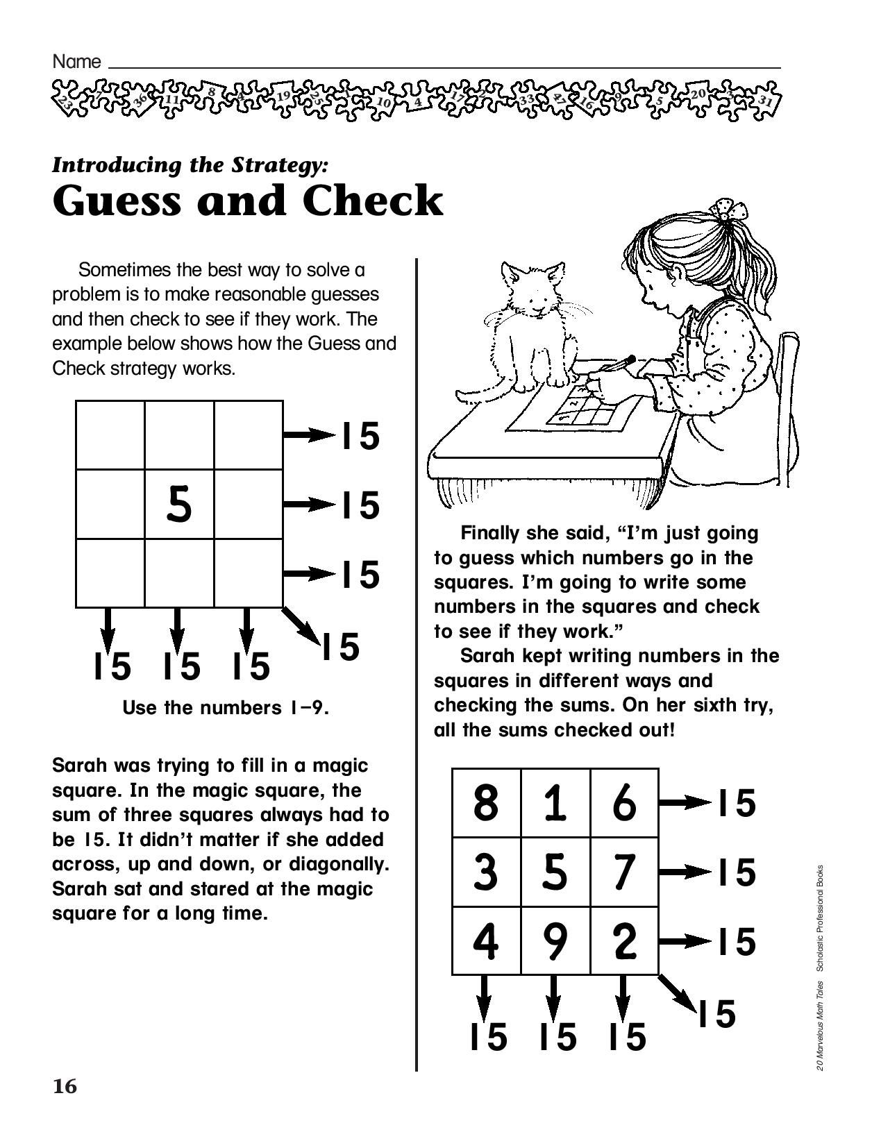 Help Your Child Learn How To Make Reasonable Guesses With Math Problems Ages 6 7
