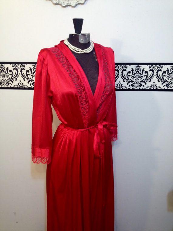 1950's Rare Gilead Peignoir in Cherry Red Style by RetrosaurusRex