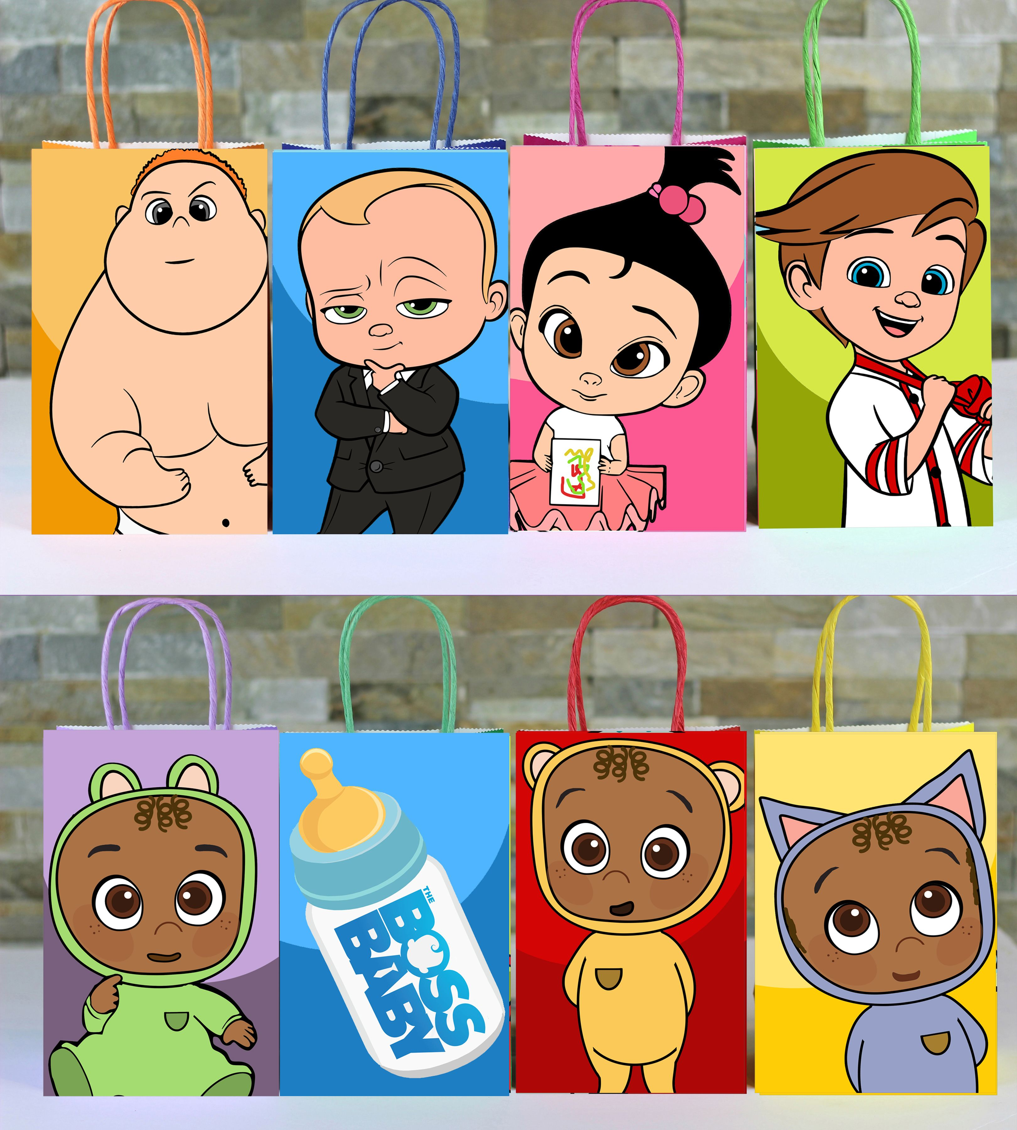 Boss Baby Favor Bag Boss Baby Baby Party Bags Baby Favors