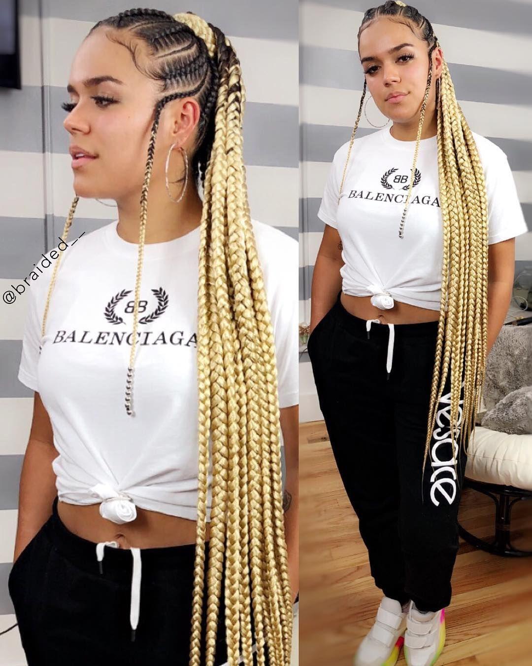 24 Inch Box Braids Xpression Braiding Hair In 2020 Hair Styles Braided Hairstyles African Braids Hairstyles