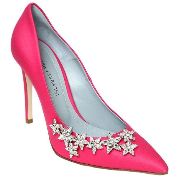 Chiara Ferragni 100MM CRYSTAL STARS SATIN PUMPS Brand New Unisex For Sale Shop 100% Authentic Online Cheap Sale Hot Sale Outlet How Much EieuhLbLY