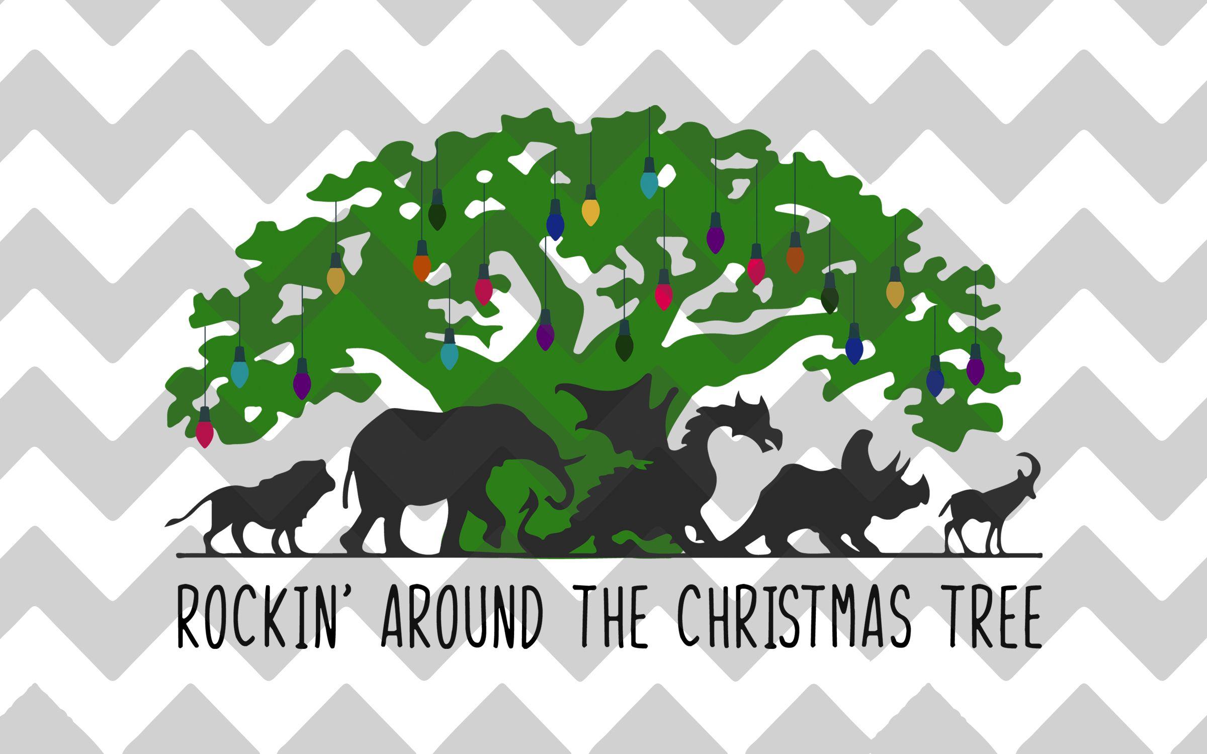 Disney Animal Kingdom Rockin Around The Christmas Tree Svg Dxf Png Animal Kingdom Disney Disney Animals Disney Holiday