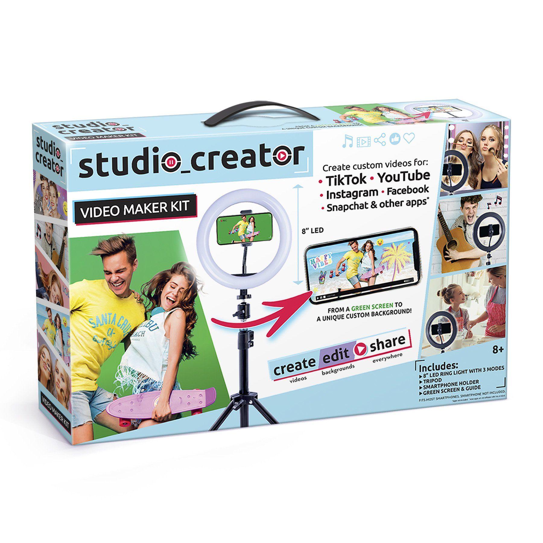 Studio Creator Video Maker Kit Create Your Very Own Social Videos Walmart Com Video Maker Kids Camera Greenscreen
