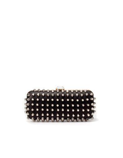 6b4effed9f200 Zara studded clutch | Fashion Needs | Pinterest | Bags, Fashion and Zara