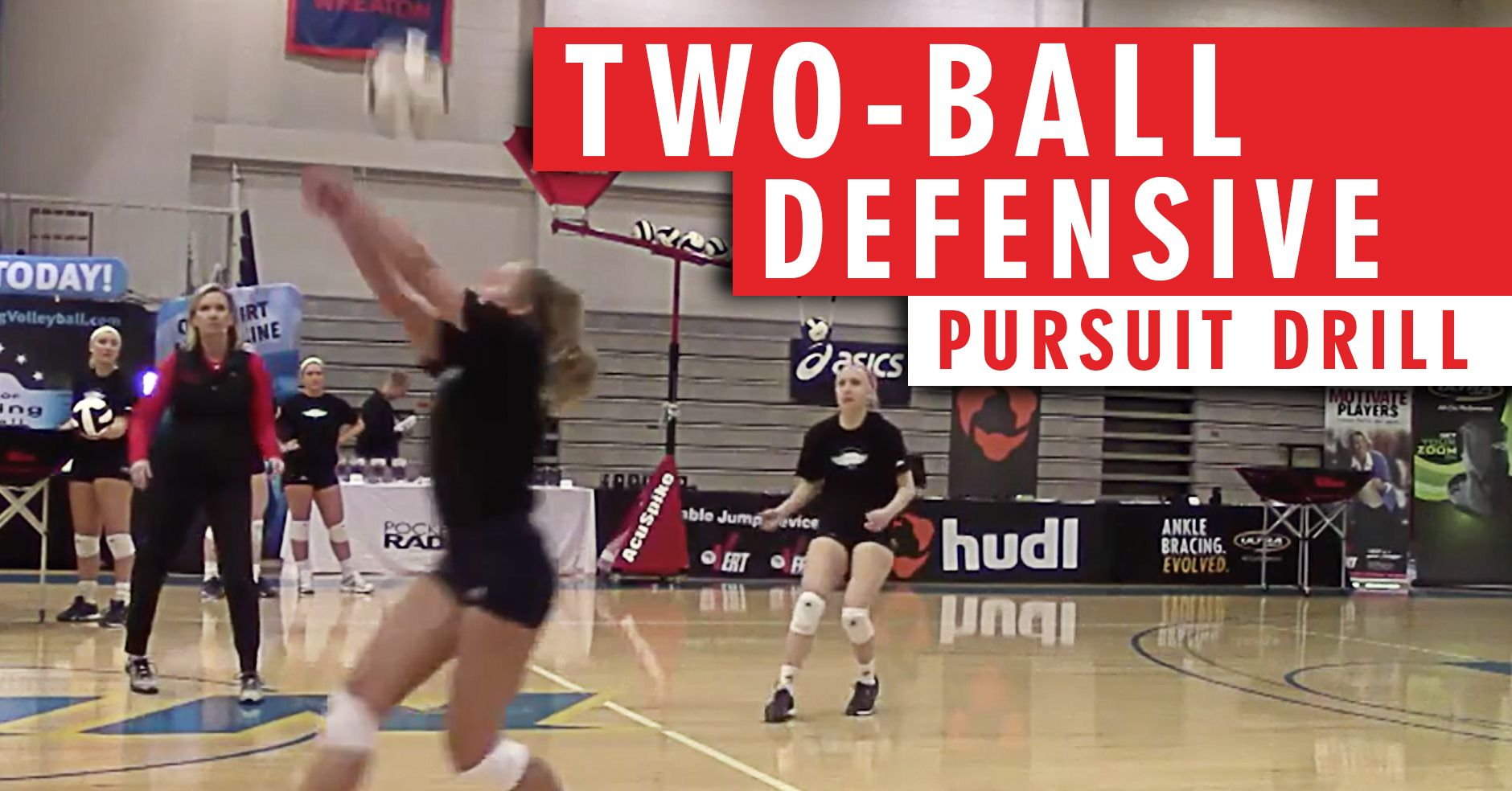 Two Ball Defensive Pursuit Drill Coaching Volleyball Volleyball Training Volleyball Drills