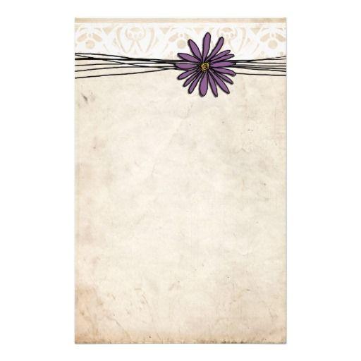 Vintage Purple Stationery