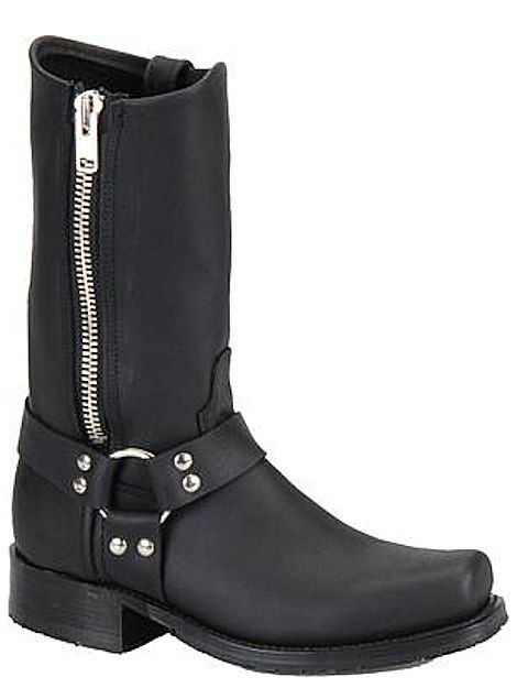 Double H Boots ICE Harness Zipper Boot DH1602 Black ...