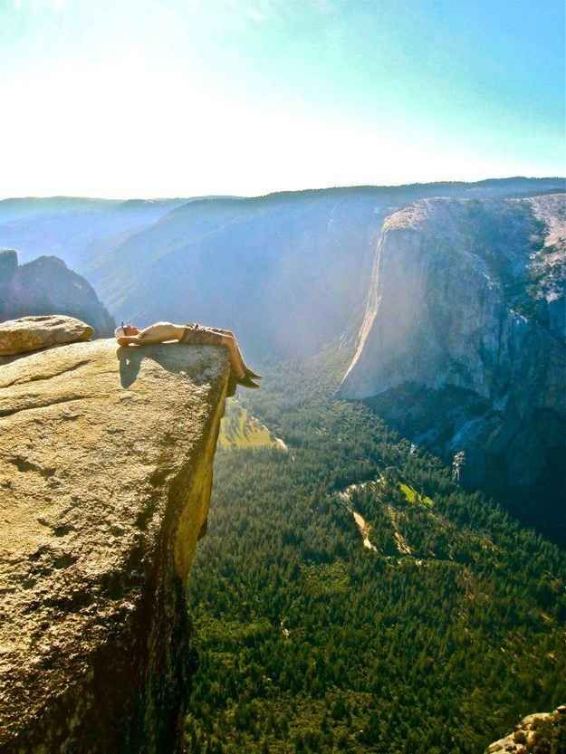 Is anywhere more relaxing than Taft Point in Yosemite?