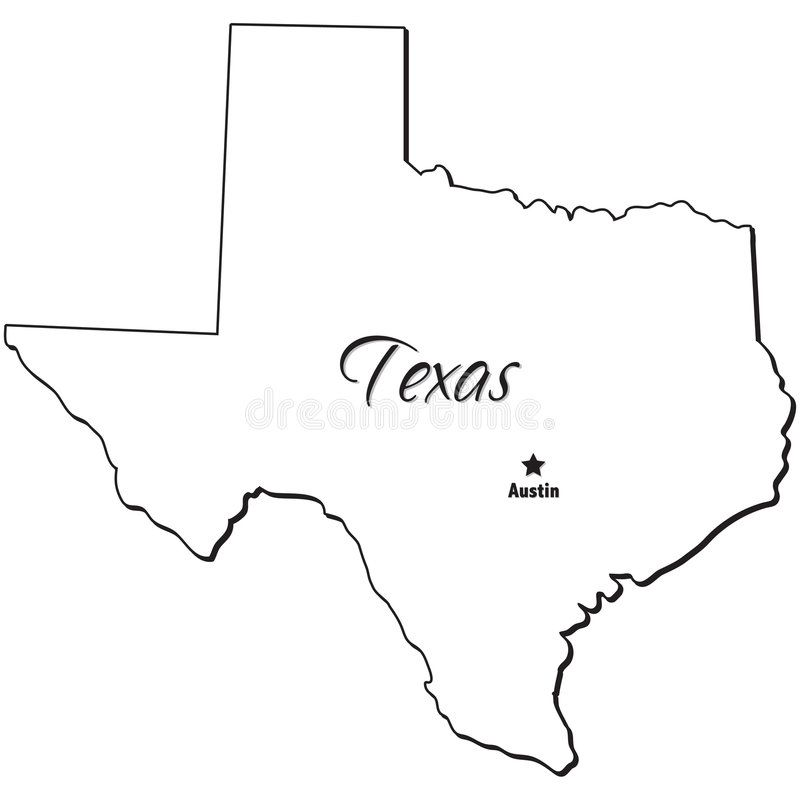 State Of Texas Outline An Illustration Of The State Of Texas Aff Texas State Outline State Illustration Ad Texas Outline Outline Texas