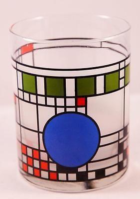 MOMA Frank Lloyd Wright Coonley Playhouse Art Glass Window Tumbler Geometric | Chicago architecture foundation. Glass art. Frank lloyd wright