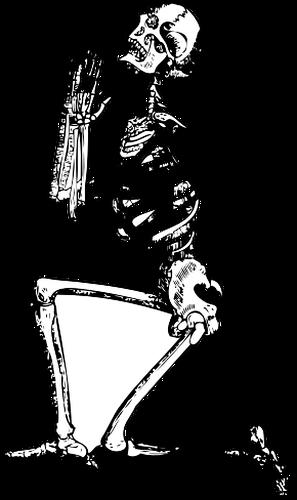 Vector clip art of praying skeleton   Public domain vectors