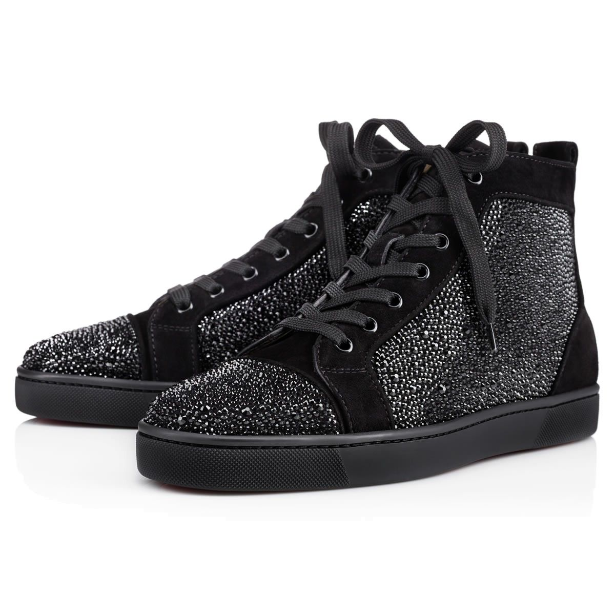 Christian Louboutin United States Official Online Boutique - Louis Strass  Men's Flat Black Strass available online. Discover more Men Shoes by  Christian ...