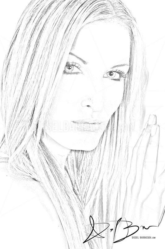 Beautiful Face Line Drawing : What is beauty sketch portrait study beautiful girl face