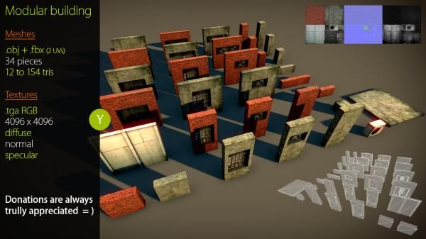 Modular Building Asset 3d Model Sharecg Modular Building