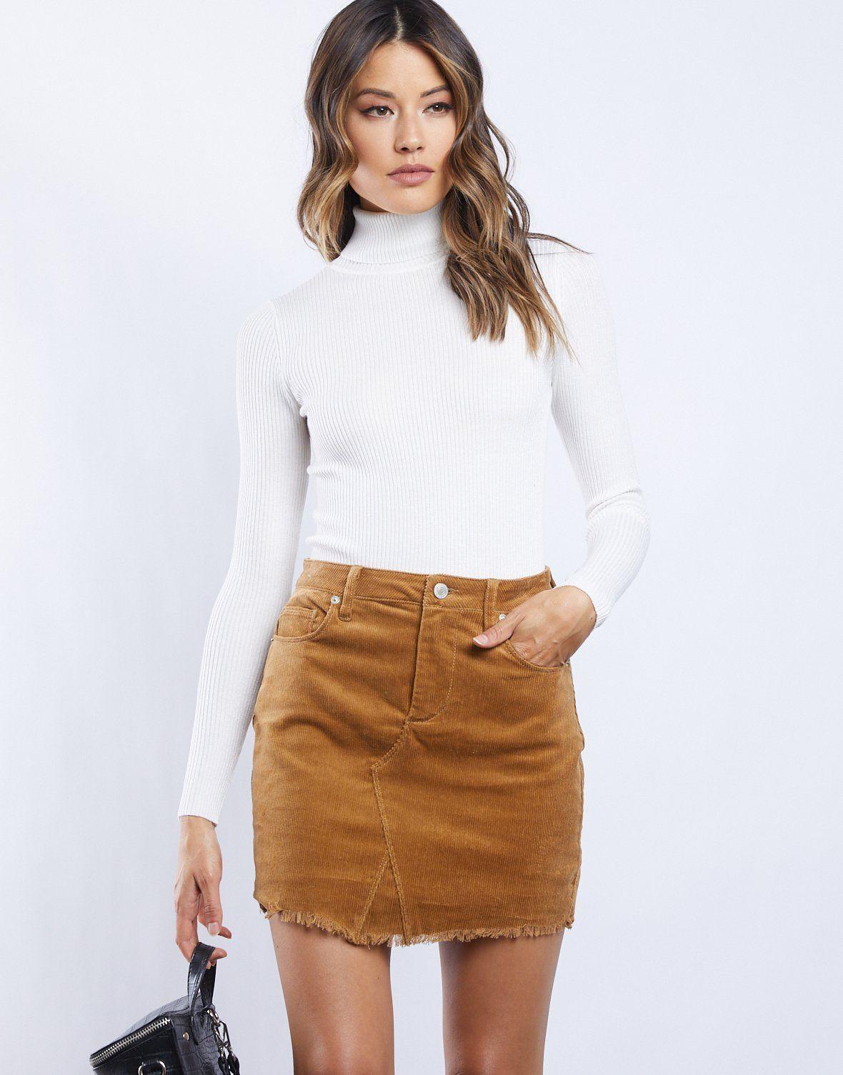 Sweet Corduroy Mini Skirt