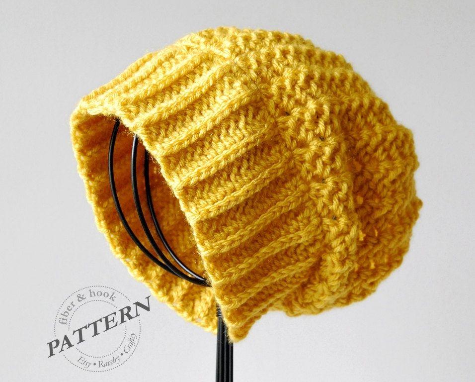 CROCHET PATTERN - Boho Slouchy Beanie Crochet Slouch Hat Pattern Easy  Crochet (Toddler Youth Adult Sizes) pdf  022H 19ddb36adbe