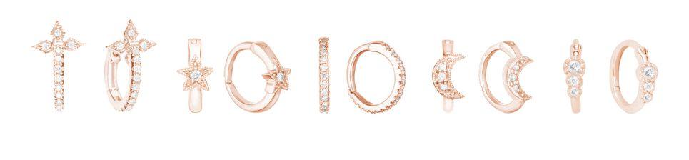Boucle d'oreille anneau or rose