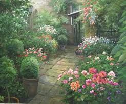 painting of garden - Google Search