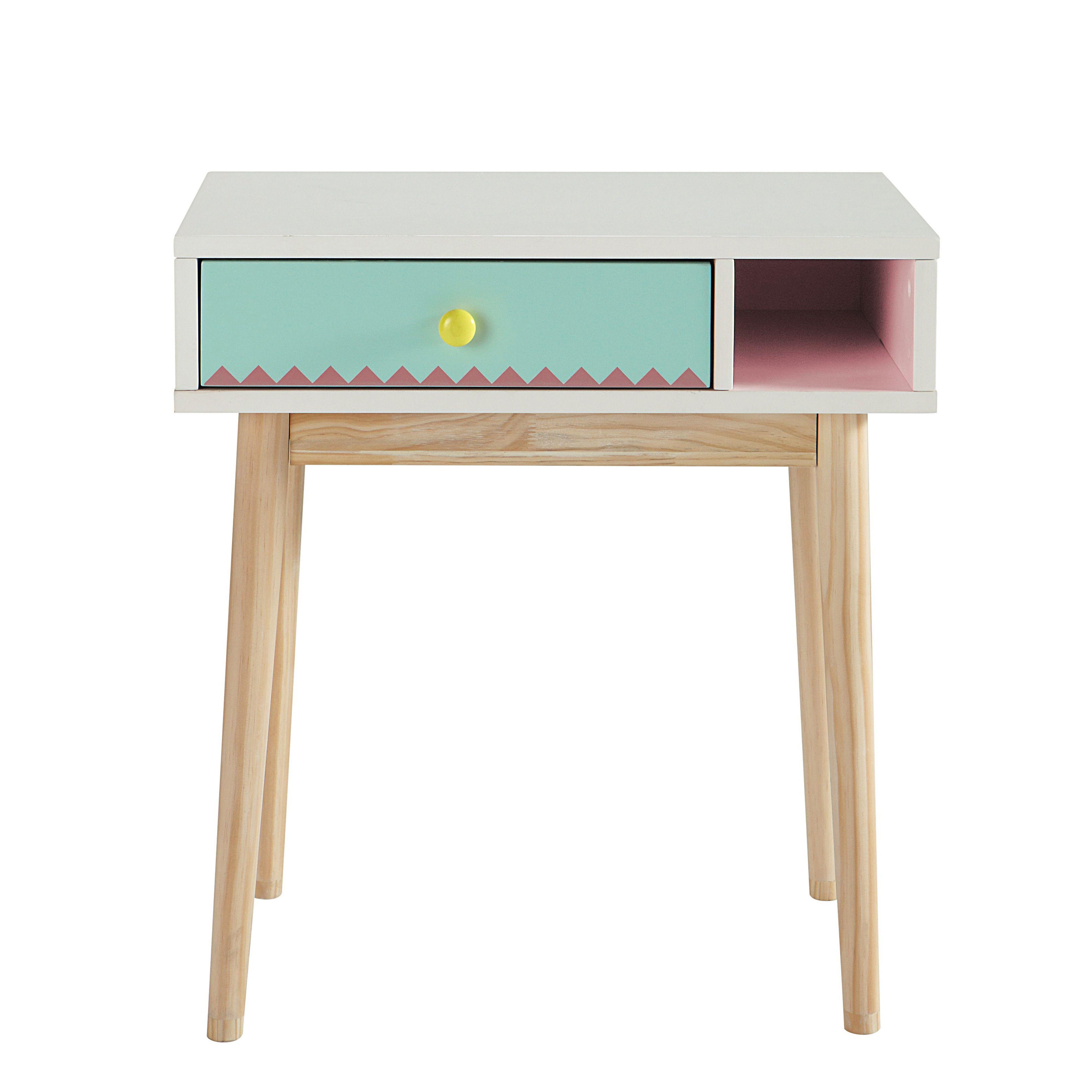 Bureau enfant en bois blanc L 60 cm Berlingot Dco Pinterest