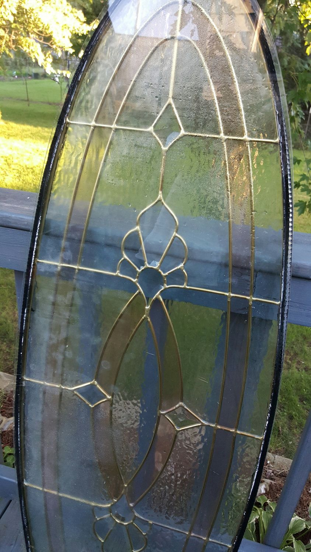 Oval Stained Gl Window Door Insert Reclaimed Antique