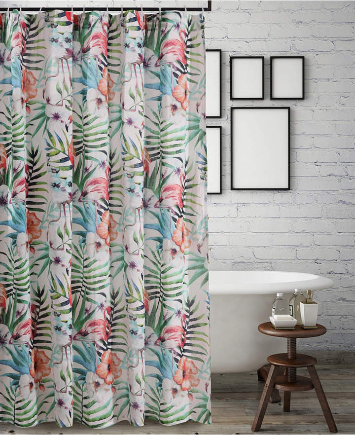 Greenland Home Fashions Flamingo Bath Shower Curtain Bedding