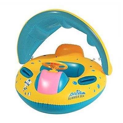 Arshiner #babies kids #sunshade #swimming inflatable boat #swimming pool fish floa,  View more on the LINK: http://www.zeppy.io/product/gb/2/322042221243/