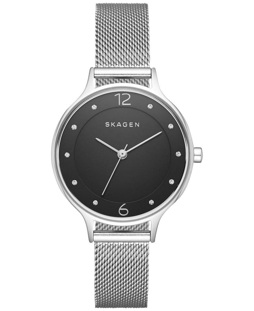 4b2273c3200b Skagen Women s Anita Stainless Steel Mesh Bracelet Watch 30mm SKW2473