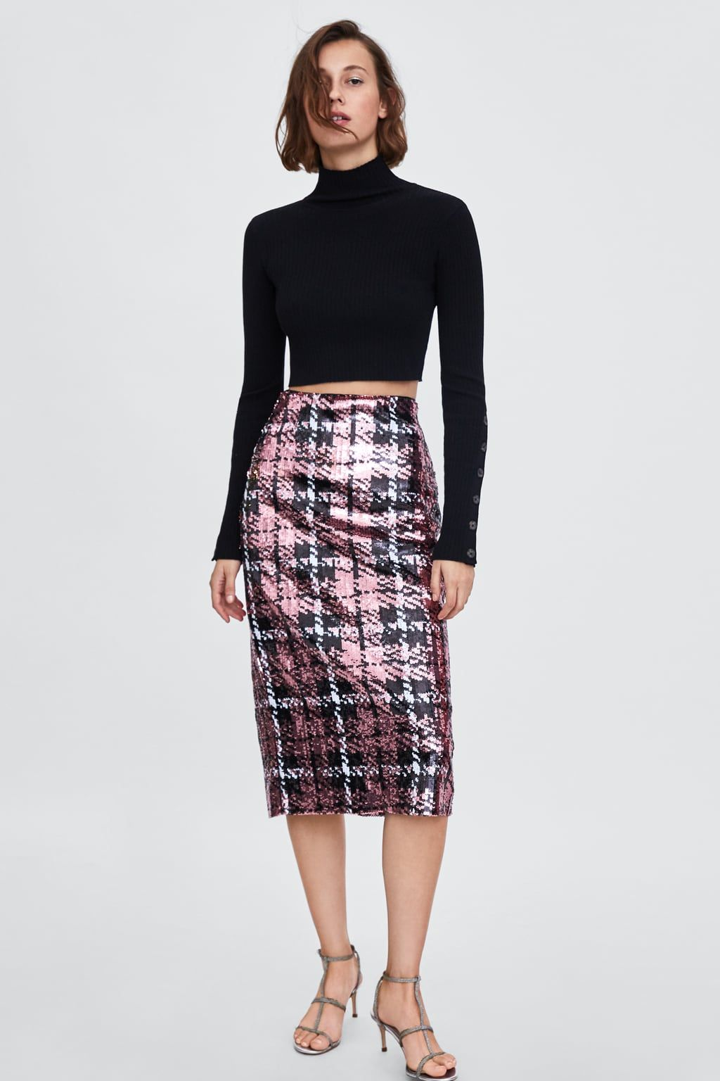 e3cd6097b FALDA MIDI LENTEJUELAS in 2019 | Zara | Zara fashion, Skirts, Midi skirt