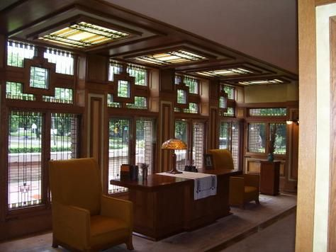 A Frank Lloyd Wright Interior Design.