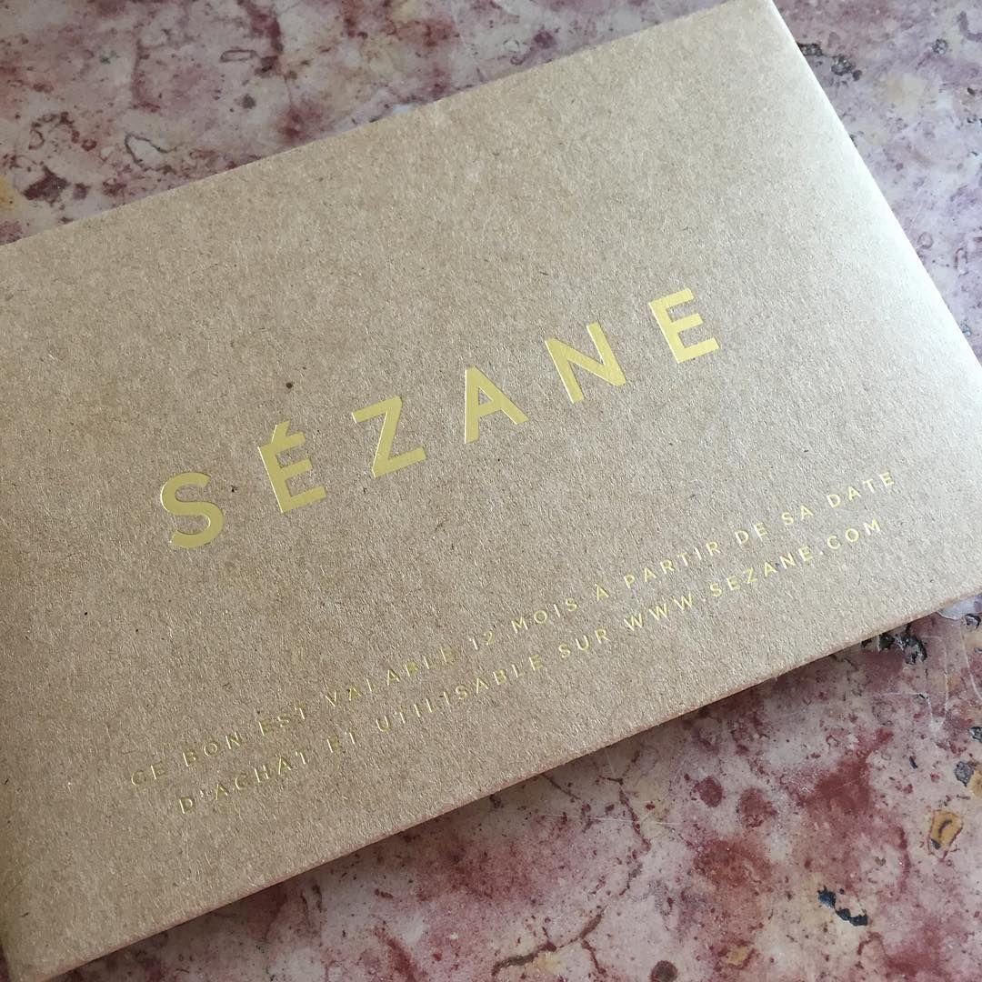 Carte Cadeau Sezane.Carte Cadeau Sezane By Bim Studio Sezane Kraft Dorure
