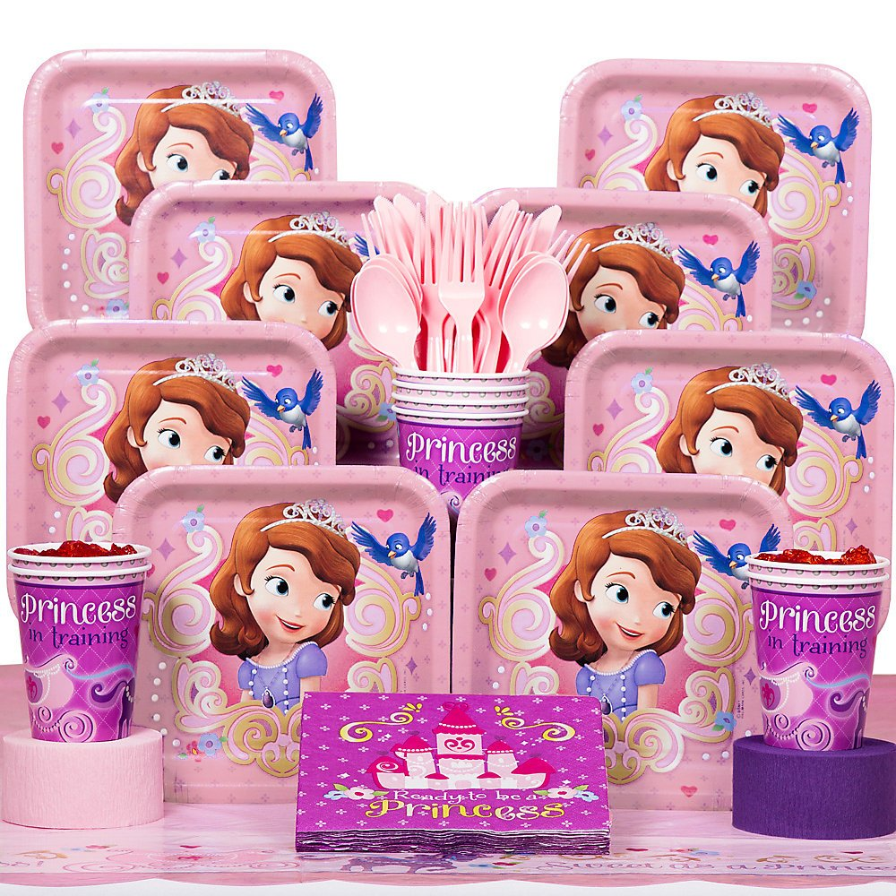 SOFIA THE FIRST Kids Tableware Plates Cups Napkins Child BIRTHDAY Party