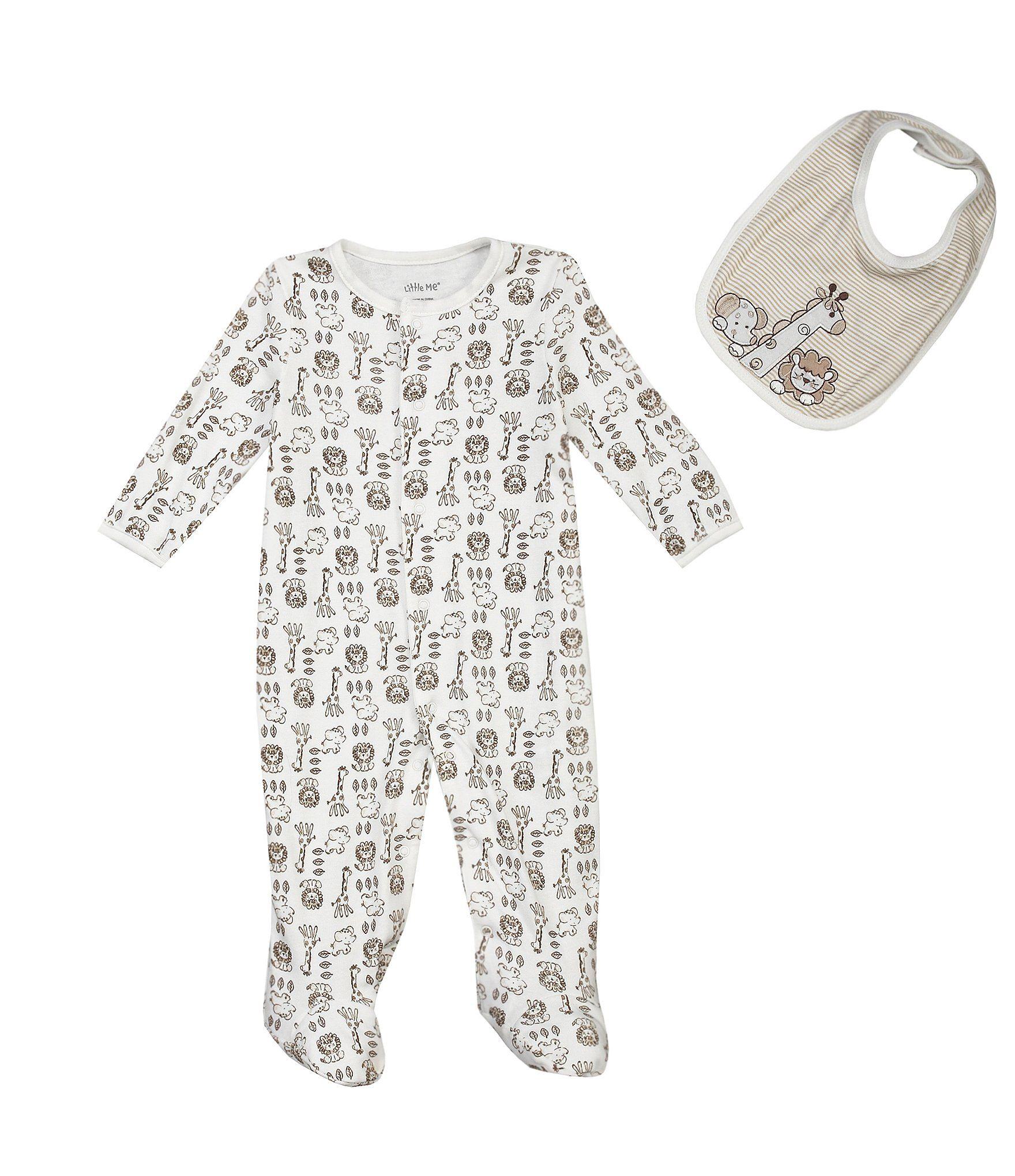 03f8236e6 Little Me Newborn-9 Months Safari Footie Set