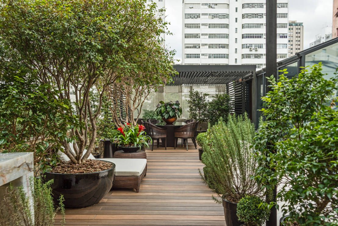 Lounge das Jabuticabeiras : Jardins modernos por Denise Barretto Arquitetura