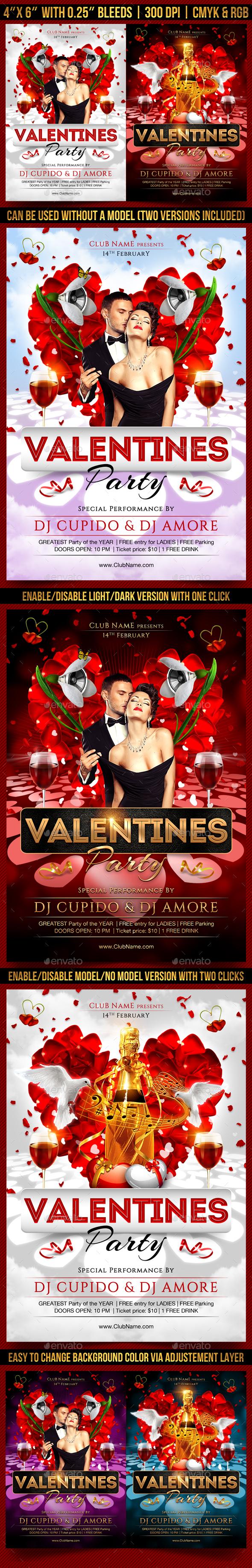 Valentines Party Flyer | Valentines Day Templates | Pinterest ...