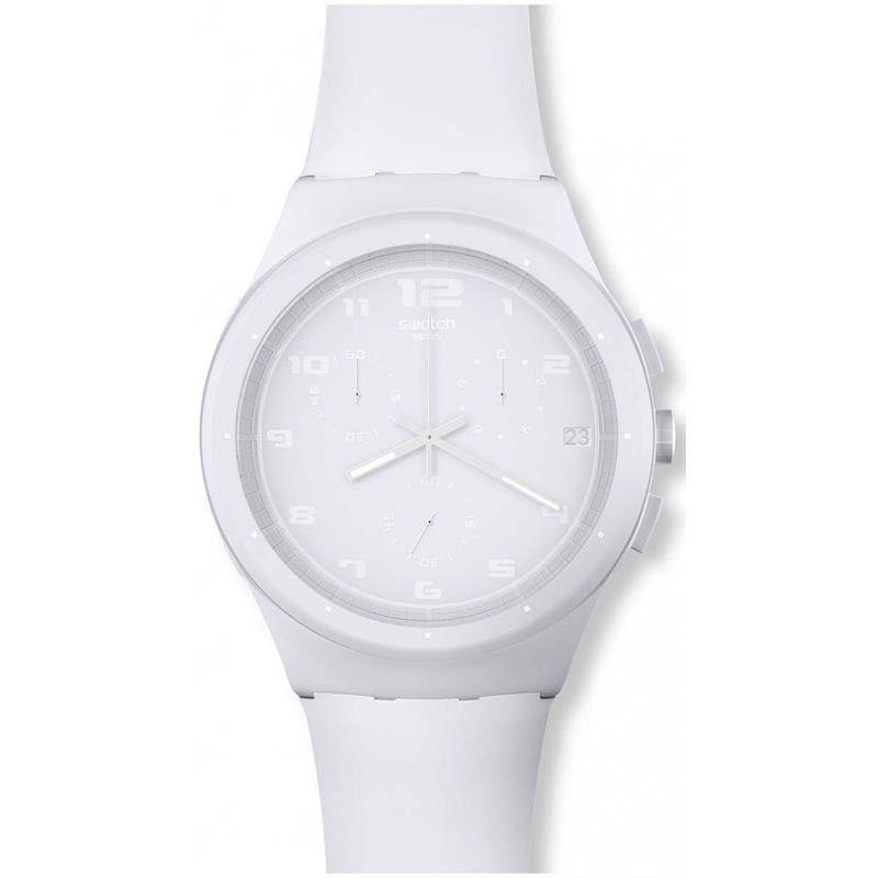 Swatch SURW400 Basic White Unisex Chronograph Watch