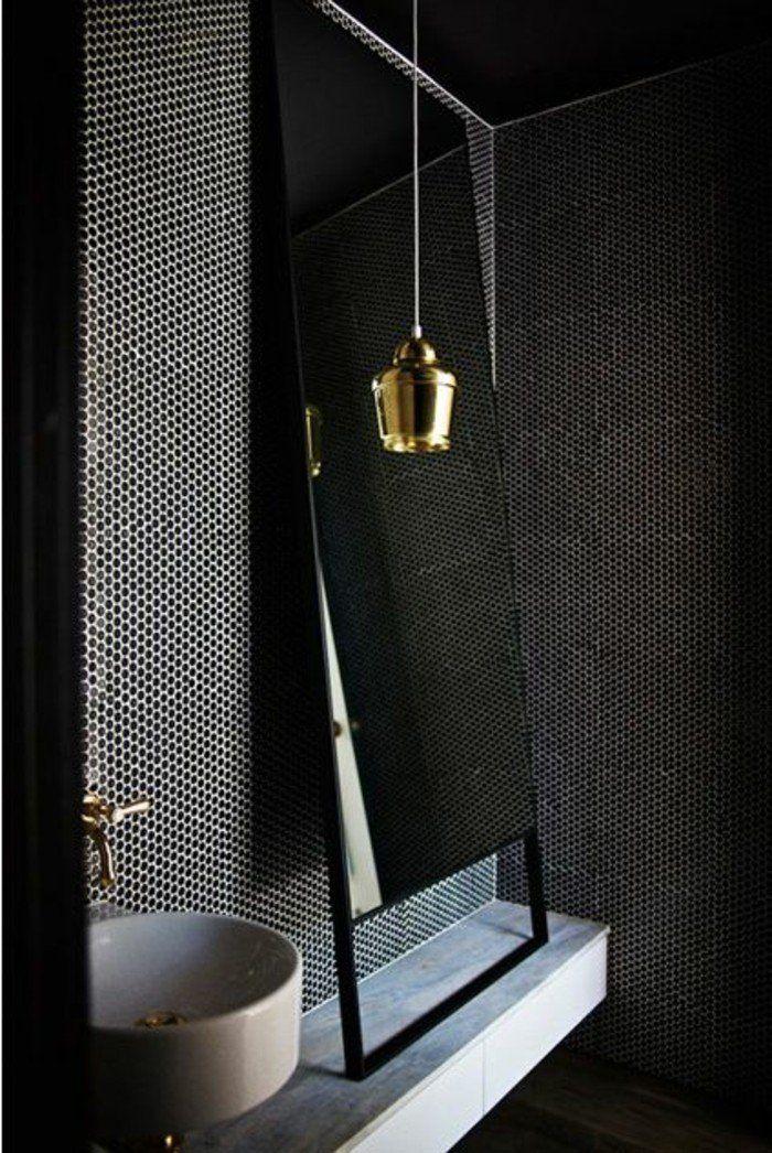 mosaique noire pour la salle de bain avec faience leroy merlin noir