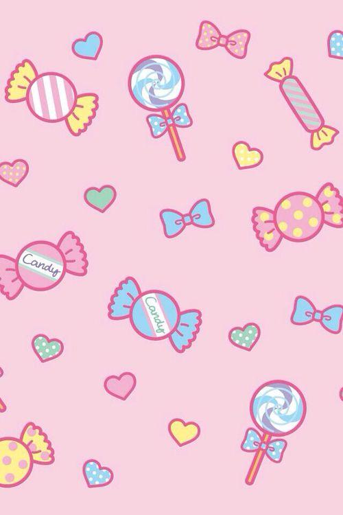 Kawaii Candy Wallpaper