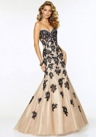 e13c45a01ea Black Nude Embellished Mermaid Prom Dresses by Mori Lee 97005   Mori Lee  Paparazzi Style 97005 Long Prom Dress Features a Sweetheart Neckline