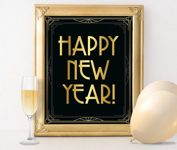 New years eve party decorations - Happy new year 2016 sign Roaring