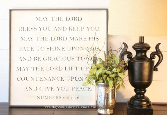 May The Lord Bless You And Keep You Benediction Numbers 6 Etsy Scripture Signs Bible Verse Wall Decor Bible Verse Wall