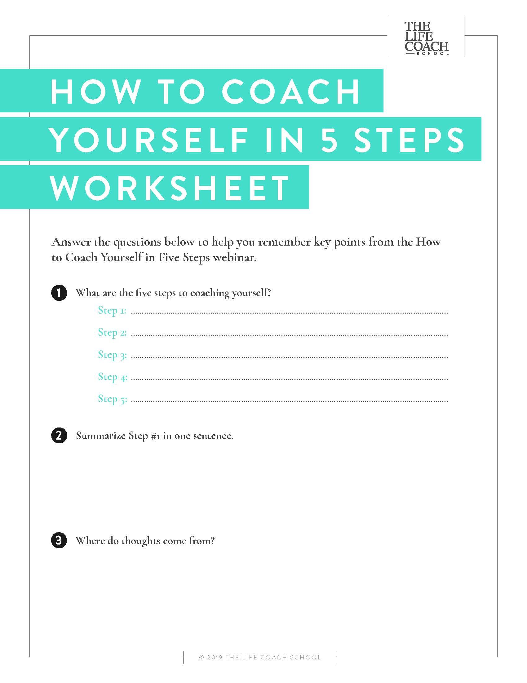 How To Coach Yourself In 5 Steps
