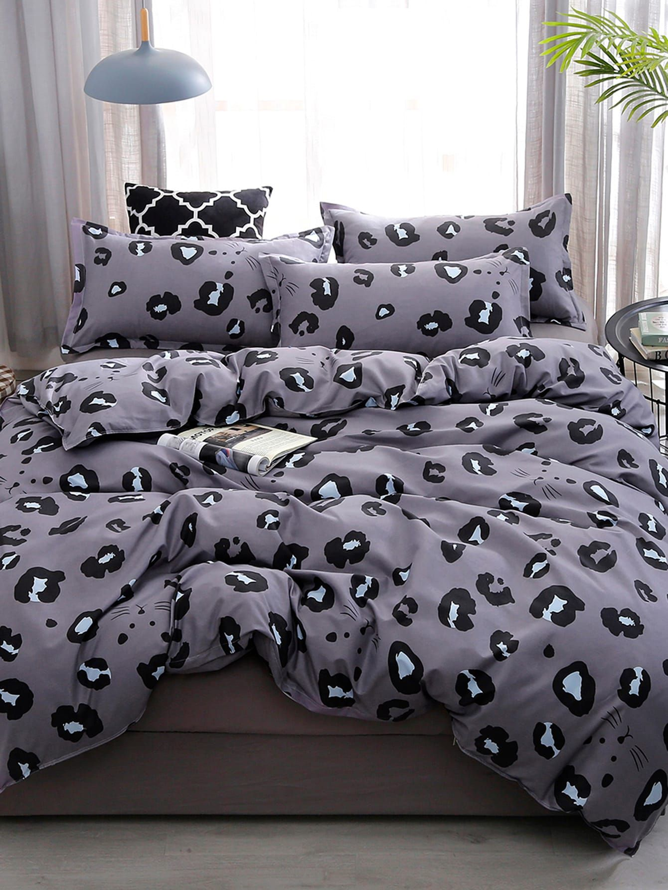 Leopard Print Duvet Cover Bedding Hometextile Bettwaren