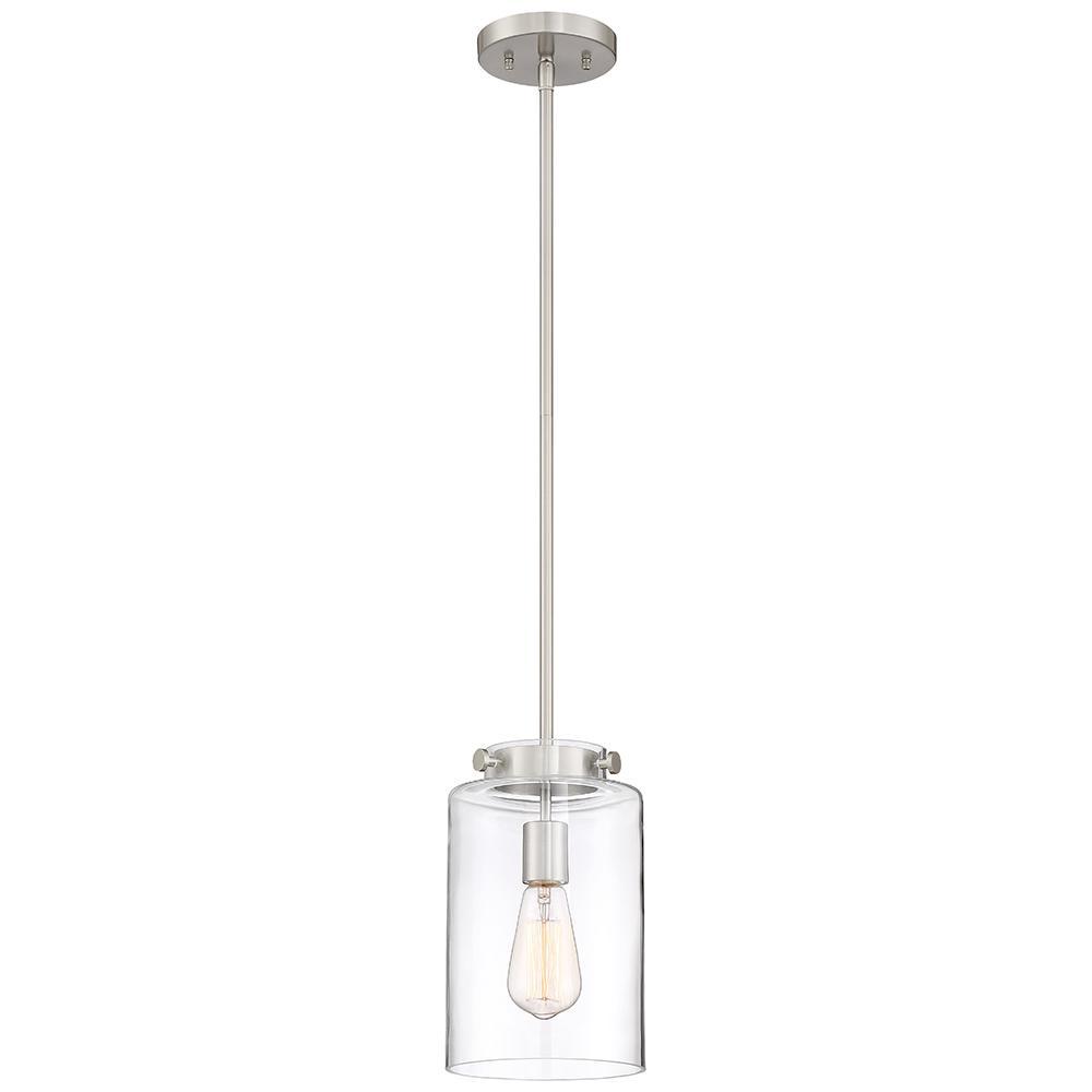 The Home Depot Logo Brushed Nickel Pendant Lights Glass Shades Glass Pendant Light