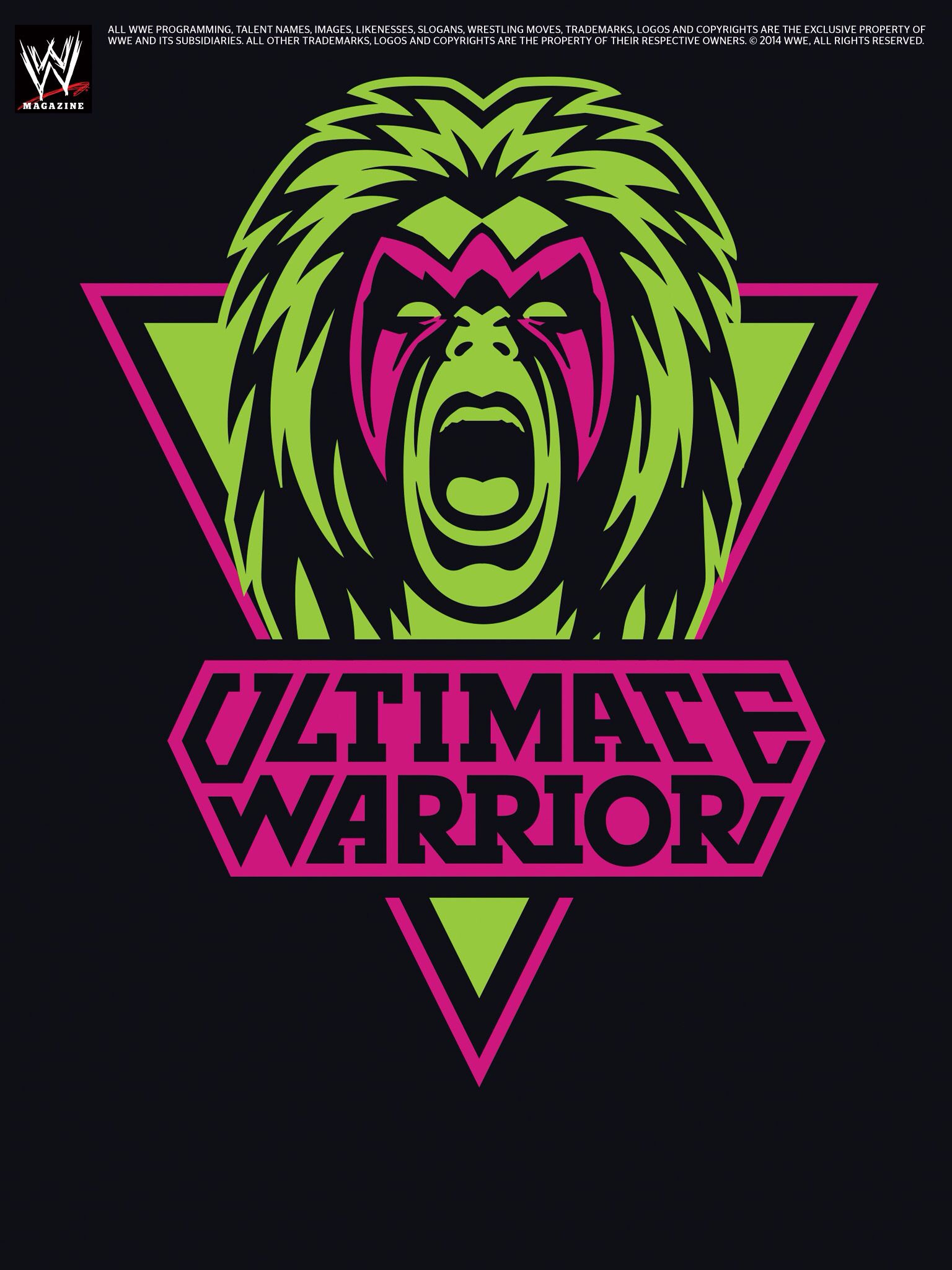 Wwe Magazine Ultimate Warrior Poster C Wwe All Rights Reserved Wwf Logo Wwe Wrestling Posters