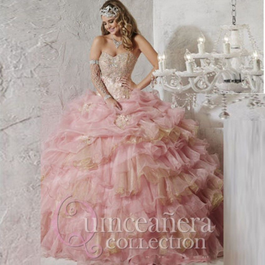 Pink 2017 Ball Gown Quinceanera Dresses Formal Gown Prom Party ...
